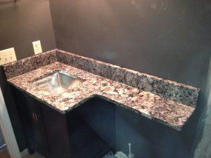 Granite America Pegasus Vanity with Overhang