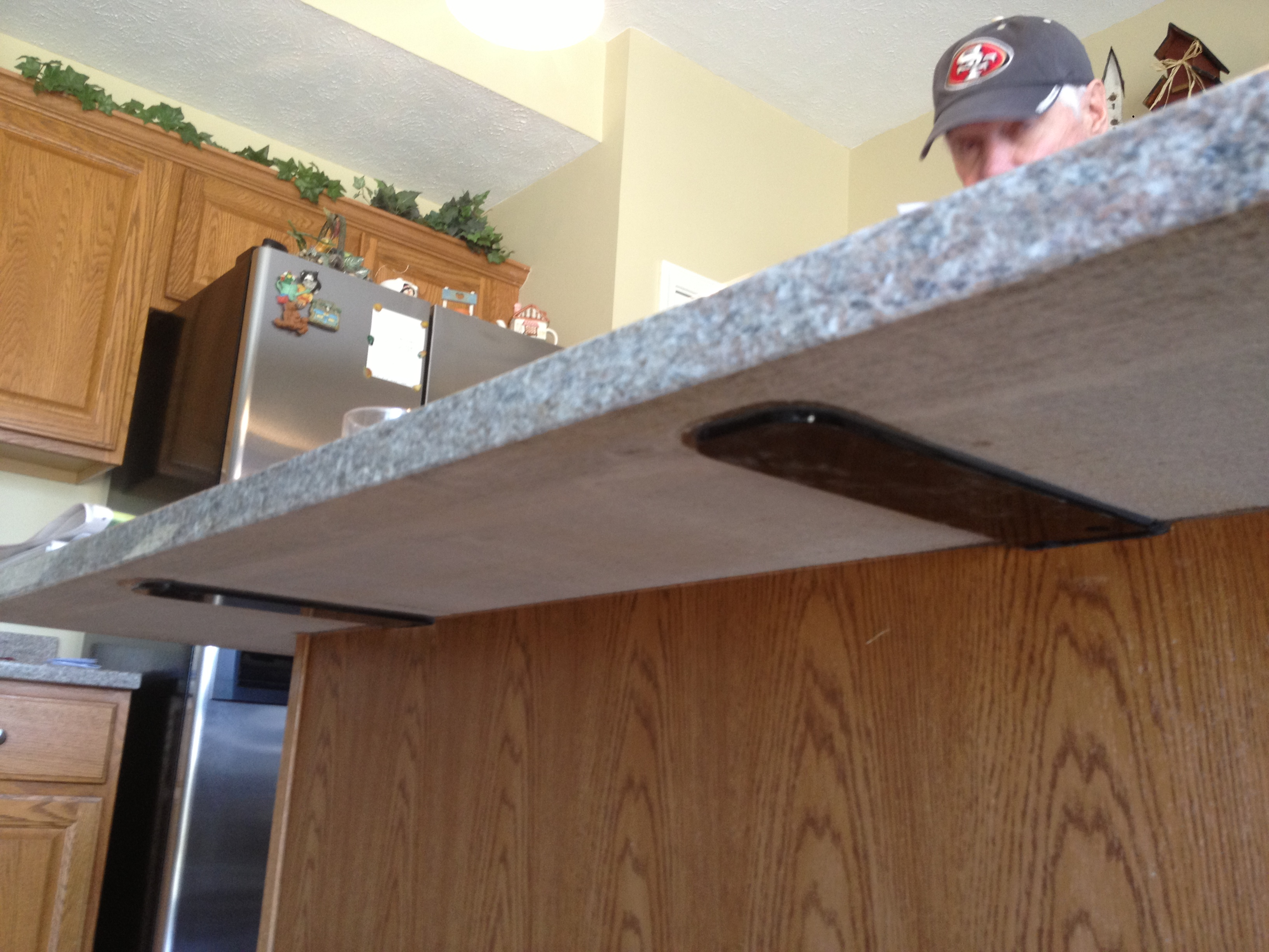 Supports granite america How to support granite overhang
