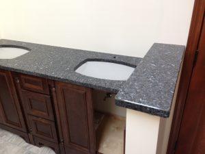 Blue Pearl Vanity Shower Curb Granite America Granite Countertop