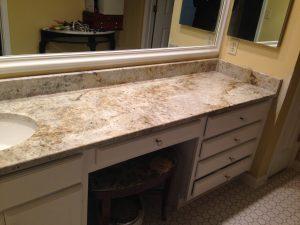 Colonial Cream Vanity Backsplash Granite America Granite Countertops