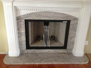 Remnant fireplace